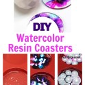 Resin Watercolor Ink Coasters