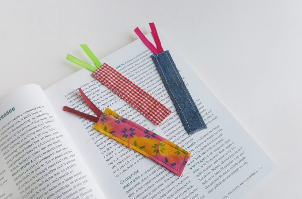 Scrap Fabric Bookmarks