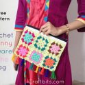 Colourful Granny Crochet Bag