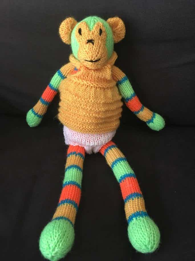 Knitted Monkey Pattern