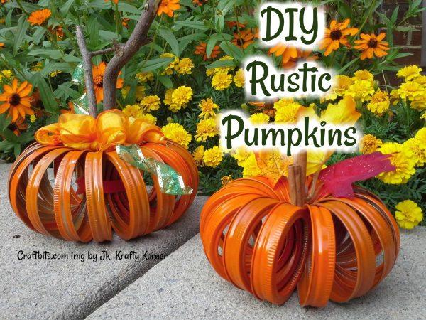Rustic Pumpkins – Mason Jar Lids