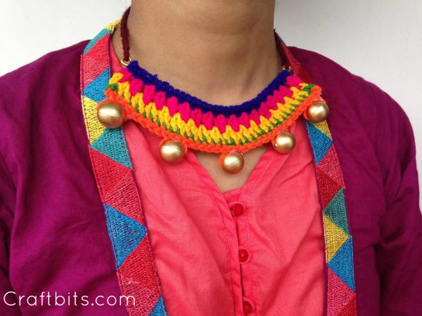 Colorful Ethnic Crochet Necklace