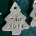 Clay Tree Christmas Ornaments