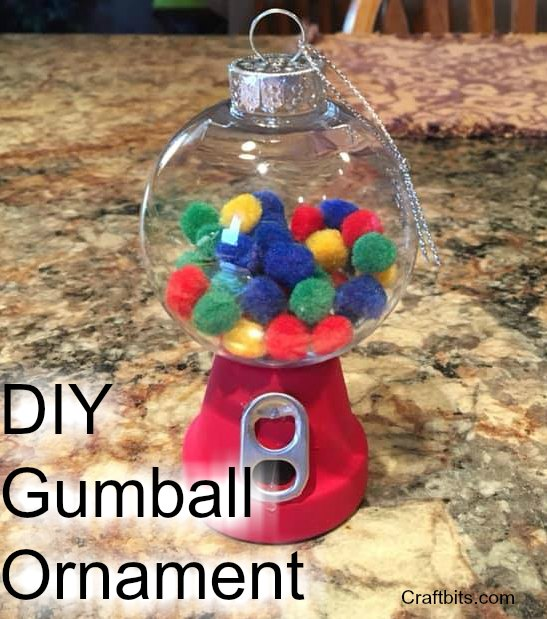 DIY Gumball Christmas Tree Ornaments
