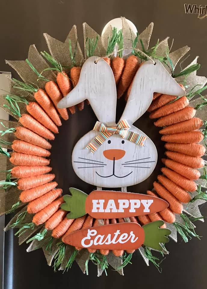 Easy DIY Easter Wreath
