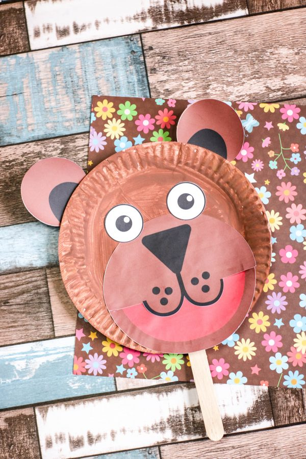 Kids Craft – Brown Bear Paper Plate