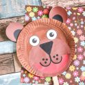 Kids Craft - Brown Bear Paper Plate
