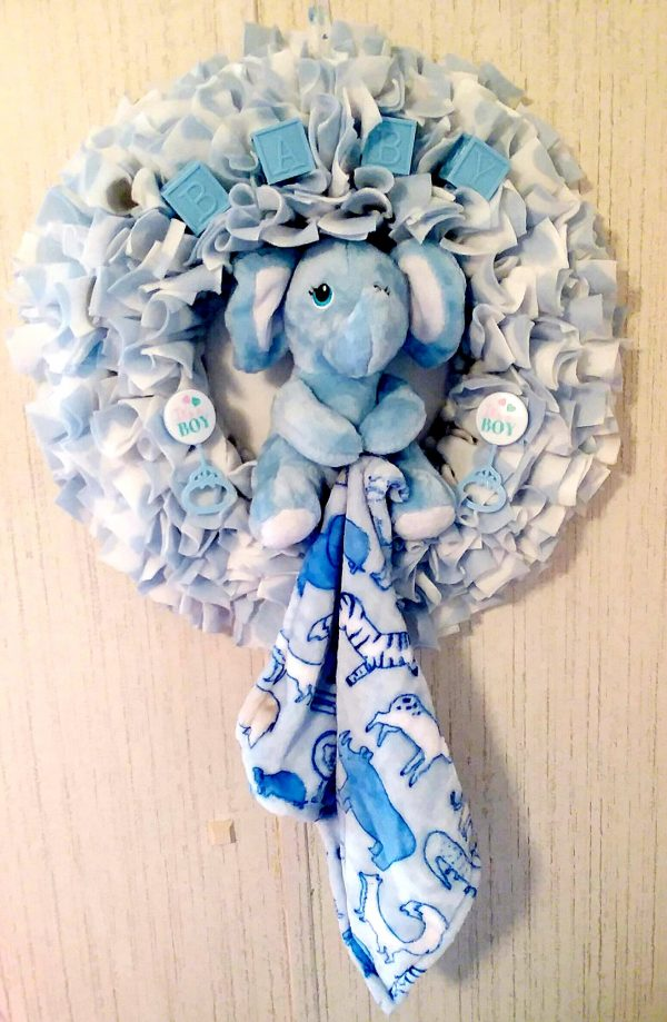 Baby Shower Wreath – Baby Boy