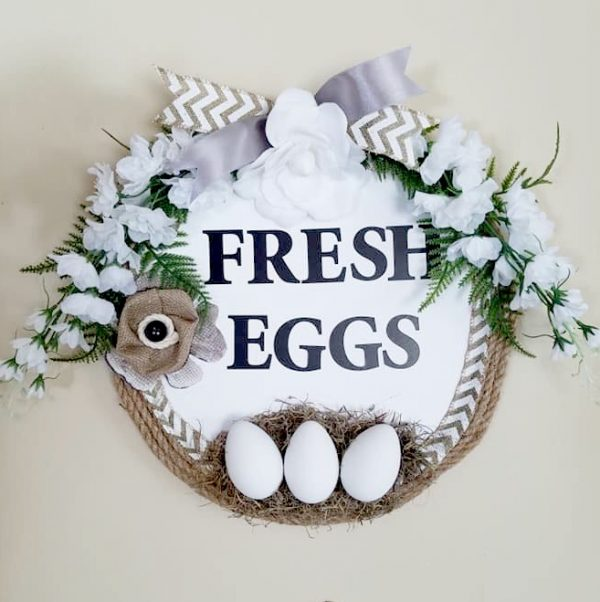 DIY Farmhouse Fresh Eggs Kitchen Wall Art