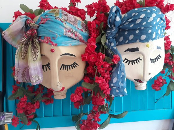 Recycled Milk Bottle Lady Planters