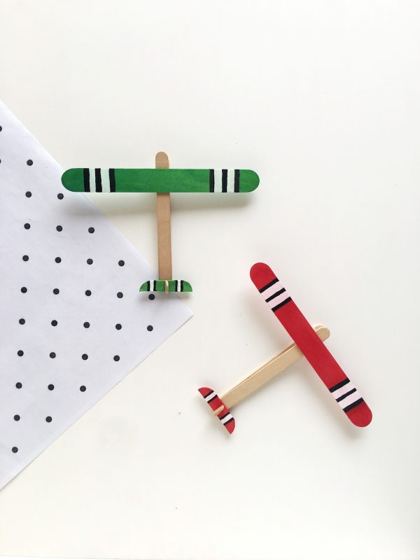 Kids Craft – Popsicle Stick Aeroplane