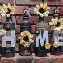 Decorative Farmhouse Up-cycled Bottles