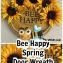 Bumble Bee Springtime Wreath