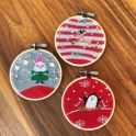 Christmas Sock Embroidery Hoop Craft