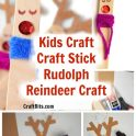 Kids Craft - Craft Stick Rudolph Christmas Reindeer