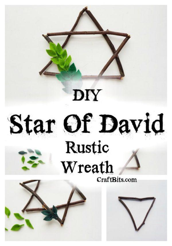 Star Of David Rustic Hanukkah Wreath