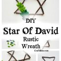 Star Of David Rustic Hanukkah Wreath