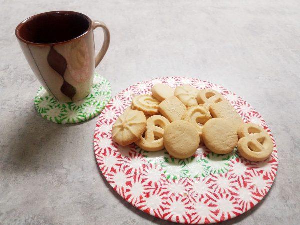 Peppermint Candy Christmas Platter