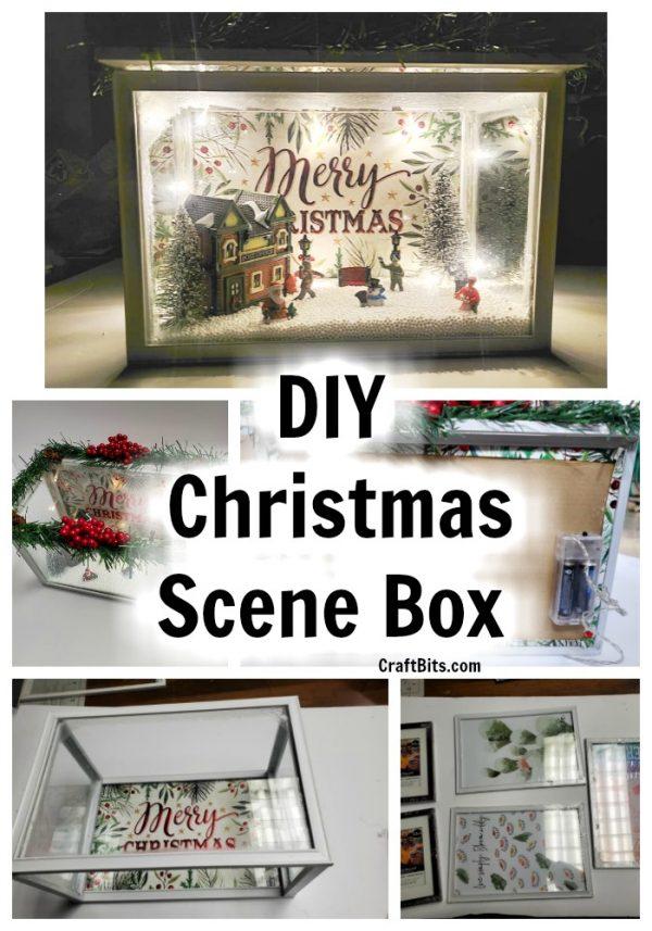 Dollar Tree Mini Christmas Scene Box