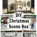 Dollar Tree Mini Christmas Scene Box