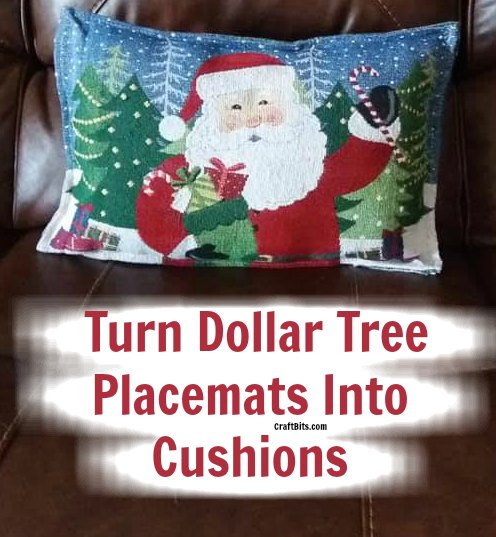 Dollar Tree – Christmas Holiday Placemat Cushions