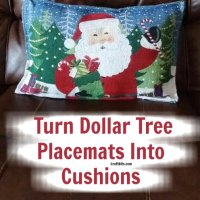 Dollar Tree - Christmas Holiday Placemat Cushions