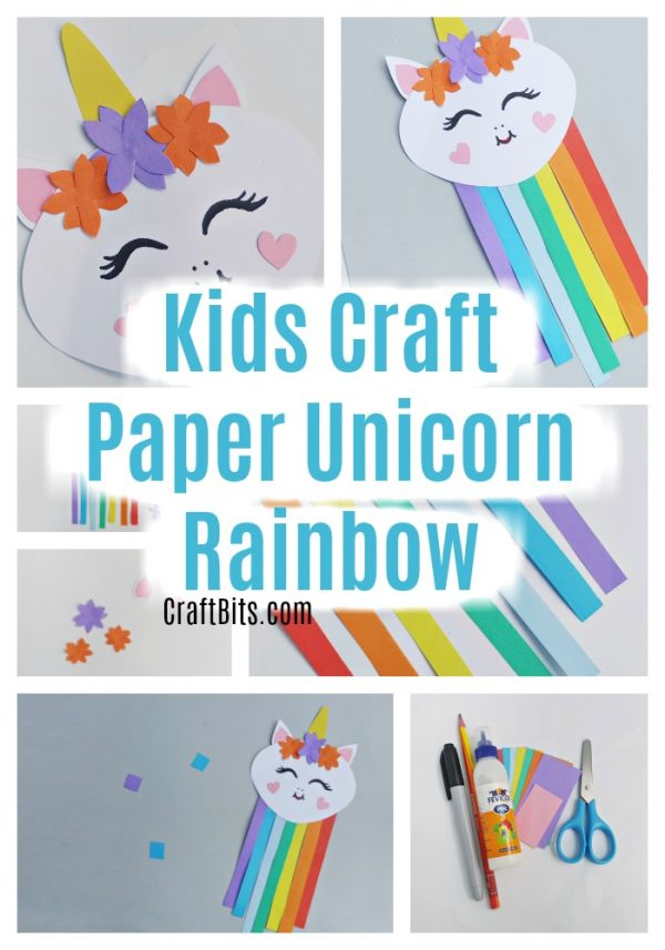 Kids Craft – Paper Unicorn Rainbow