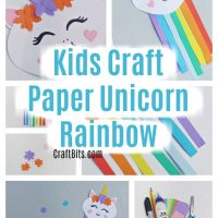 Kids Craft - Paper Unicorn Rainbow