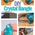 DIY Cluster Gemstone Crystal Bangle