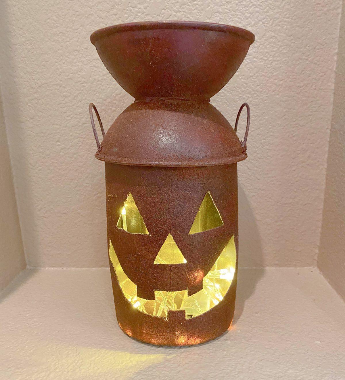 Halloween Lantern –  Farmhouse Milk Pail