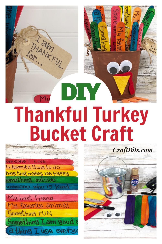 Kids Craft –  Thankful Gratitude Turkey Bucket