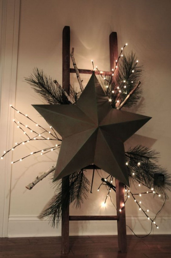 Giant lighting stars for hallway decoration.