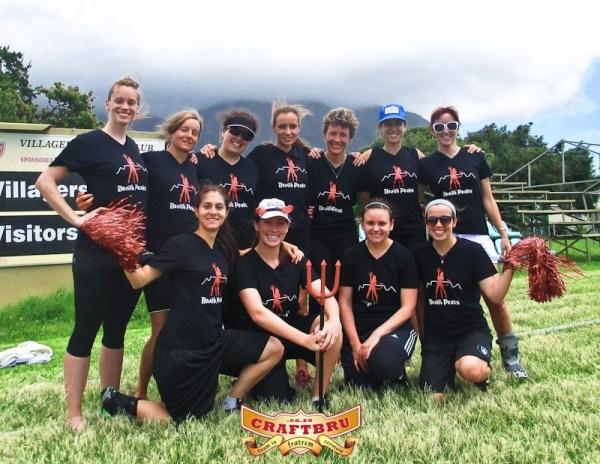 Devil's Peaks Women's Team sponsored by Devil's Peak Brewing Company