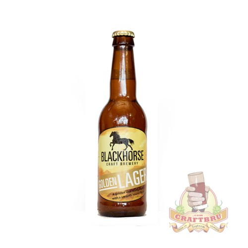 Golen Lager by Black Horse Brewery, Magaliesburg, South Africa