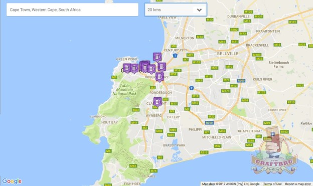 Search for South African craft beer near you