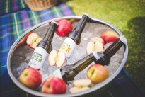 Loxtonia Cider bottles on ice, Ceres, South Africa