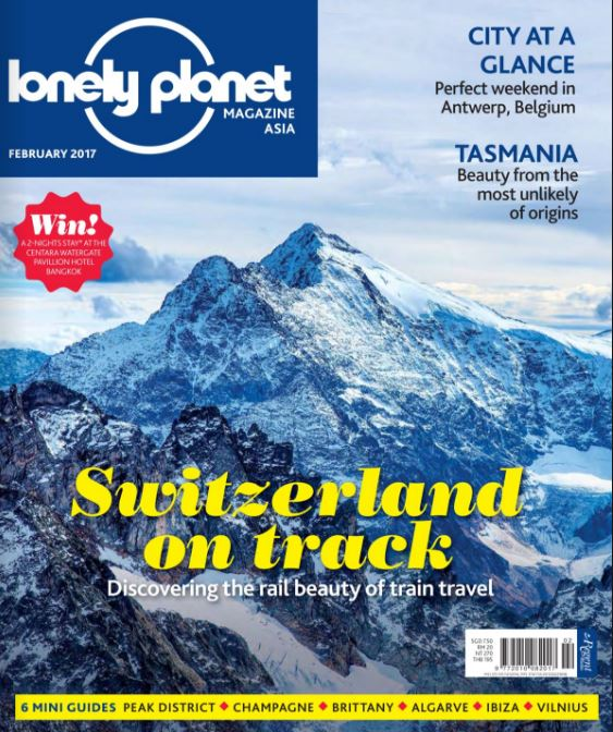 Heritage Suites Hotel luxury travel pr case study media coverage - Lonely Planet magazine - snow-capped mountains