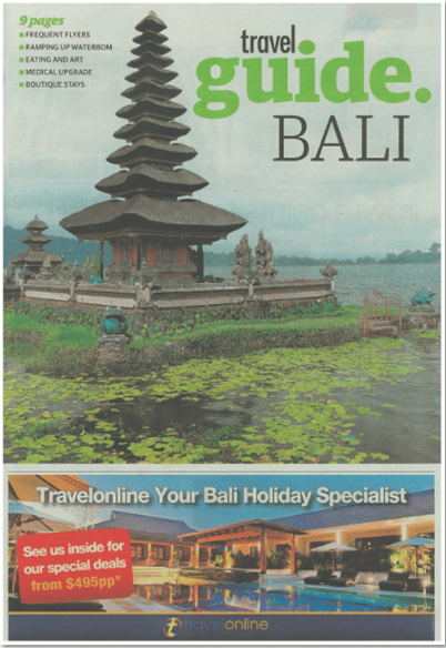 Travel public relations agency client L Hotel Seminyak featured in The West Australian - iconic tower of Bali