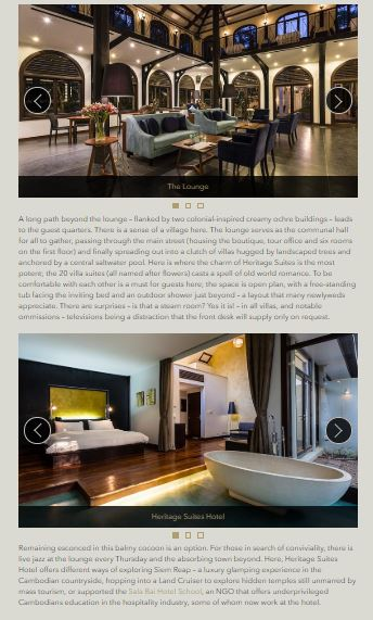 Heritage Suites Hotel luxury travel pr case study media coverage - Robb Report, Malaysia