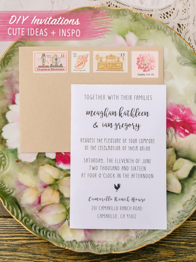 Diy Wedding Invitation Ideas Rustic Barn Country Pink Vine Sts