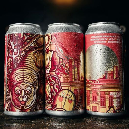 Passion Fruit Lassi IPA - Craft beer can design by Drew Millward