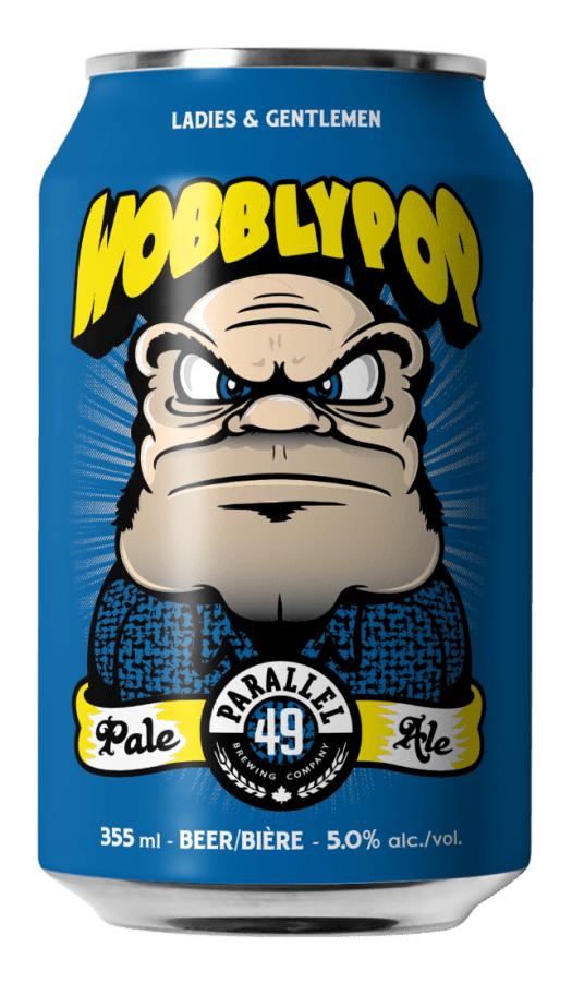 Steve Kitchen Wobblypop craft can design for Parallel 49 Brewing, Vancouver