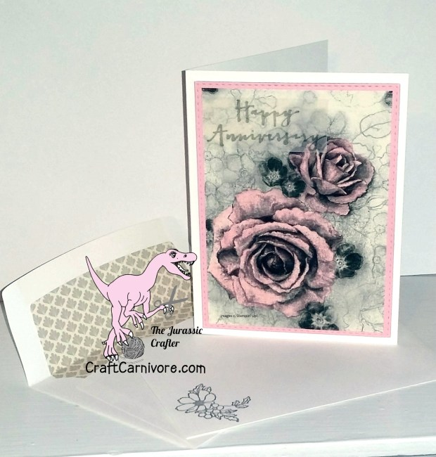 Timeless Elegance Anniversary Card