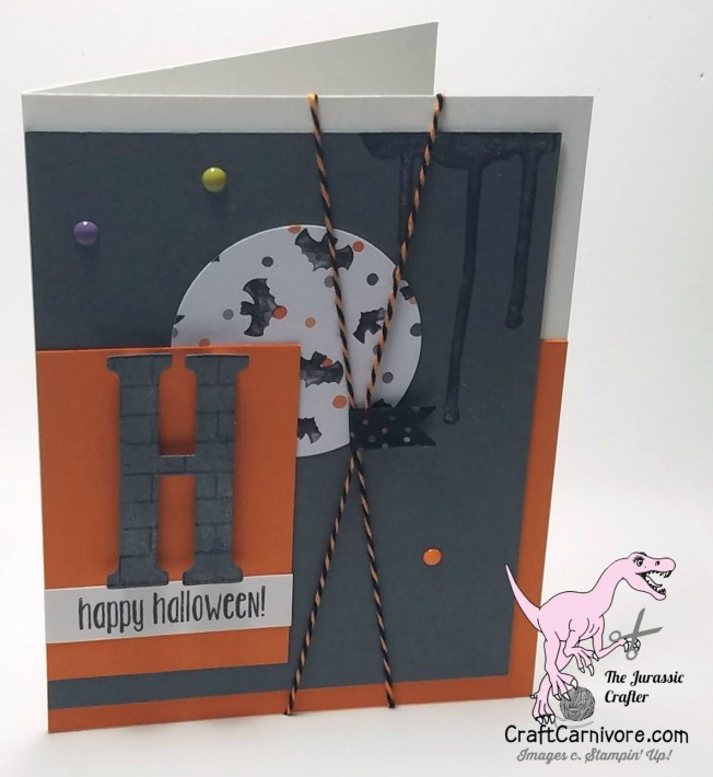 The Jurassic Crafter at craftcarnivore.com featuring the Halloween Night product suite. Come visit my blog to see more. #stampinup #craftcarnivore