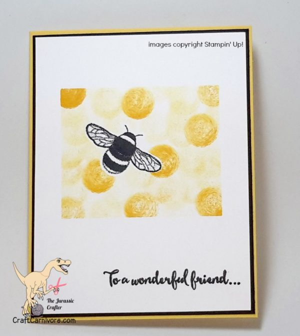 Dragonfly Dreams Bee-Have! the Jurassic Crafter CraftCarnivore  #stampinup #dragondlydreams