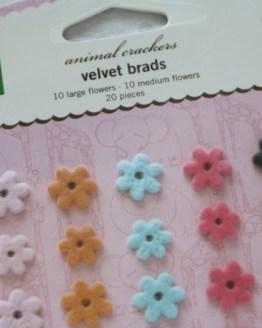 Velvet flower brad