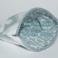 How to Make a Tiny Zipper Pouch