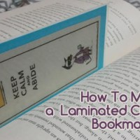 How to Make a Laminated Comic Strip Bookmark without a Laminator