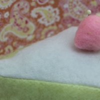 Fleece Slice of Cake Pincushion