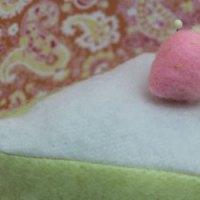 Fleece Slice of Cake Pincushion